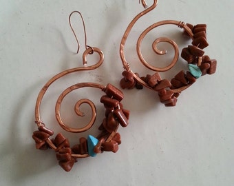Spiral Hoops earrings