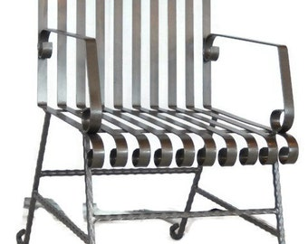 Handcrafted Wrought Iron Patio Chair