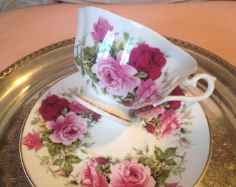 Summertime Rose by Sheltonian, England bone china