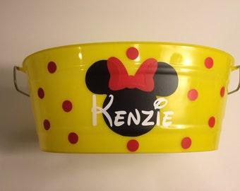 Customized Easter Bucket-Yellow