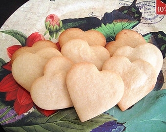 Labor Day gift/ back to school cookies----Labor Day sale--Homemade Heart Vanilla Sugar Cookies- one dozen fresh baked cookies