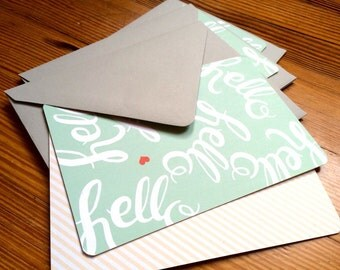 4x6 Hello Notecards // 5-pack