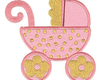 Baby Carriage Applique Design