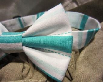 Turquoise Pool Bow Tie - Adjustable Bowtie