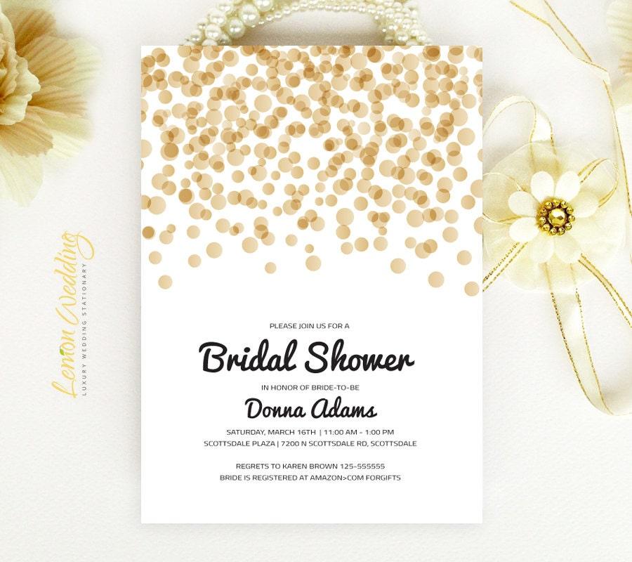 gold bridal shower invitations cheap wedding shower