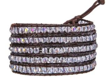 Stardust Leather Wrap Bracelet