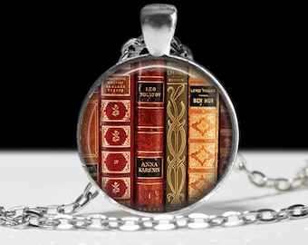 Book Jewelry Book Pendant Love Books Literary Necklace Library Jewelry