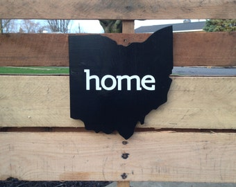 Ohio cut out, Home wall hanging sign