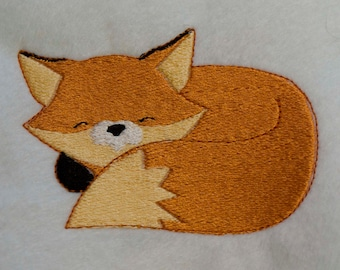 fox machine embroidery design