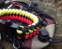 Paracord survival outdoor bracelet whistle gadget. Sanctified pattern