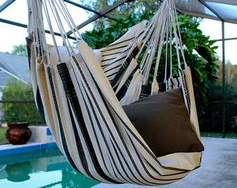 Coconut Flavor - Fine Cotton Hammock Chair, Made in Brazil