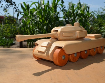 Wooden Toy Tank T1