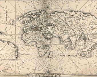 24x36 Poster; Map Of The World 1513