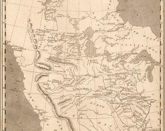 24x36 Poster; Map Of Louisiana Territory 1804