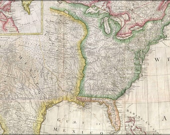 24x36 Poster; 1794 Pownell Wall Map Of North America And The West Indies