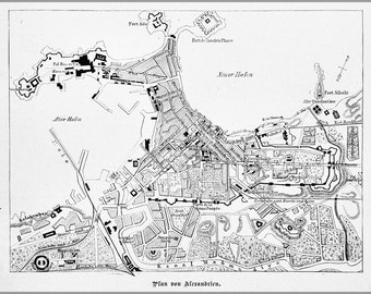 24x36 Poster; Alexandria Map 1882
