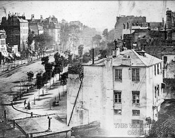 24x36 Poster; Boulevard Du Temple, By Daguerre 1838 Paris, First Photograph Of A Person