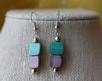 Pastel Squares Earrings