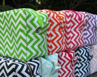 Chevron make up bags. Will monogram or embroider name or initials for FREE. Very cute bags!