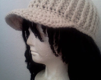 Custom Crocheted Cadet Hat