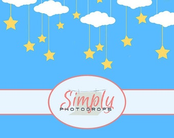 STARRY NIGHT vinyl Photography Backdrop