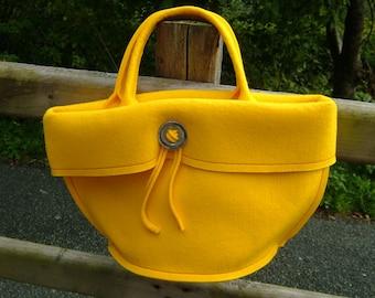 Felt Handbag Yellow Felt Purse