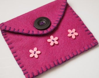 100%Wool Felt Coin Purse/Wallet/Pouch