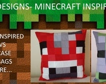 Deal of the Day- Save 5%-Minecraft Style Pillow- 16x16!