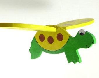 Handmade Wooden Hanging Mobile - Turtle