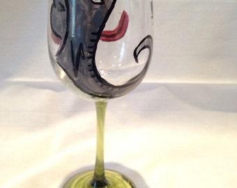 Elephant Om Wine Glass