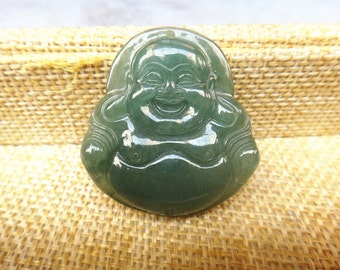 Free shipping natural sunlight Chinese jade Buddha pendant Laughing Buddha Maitreya