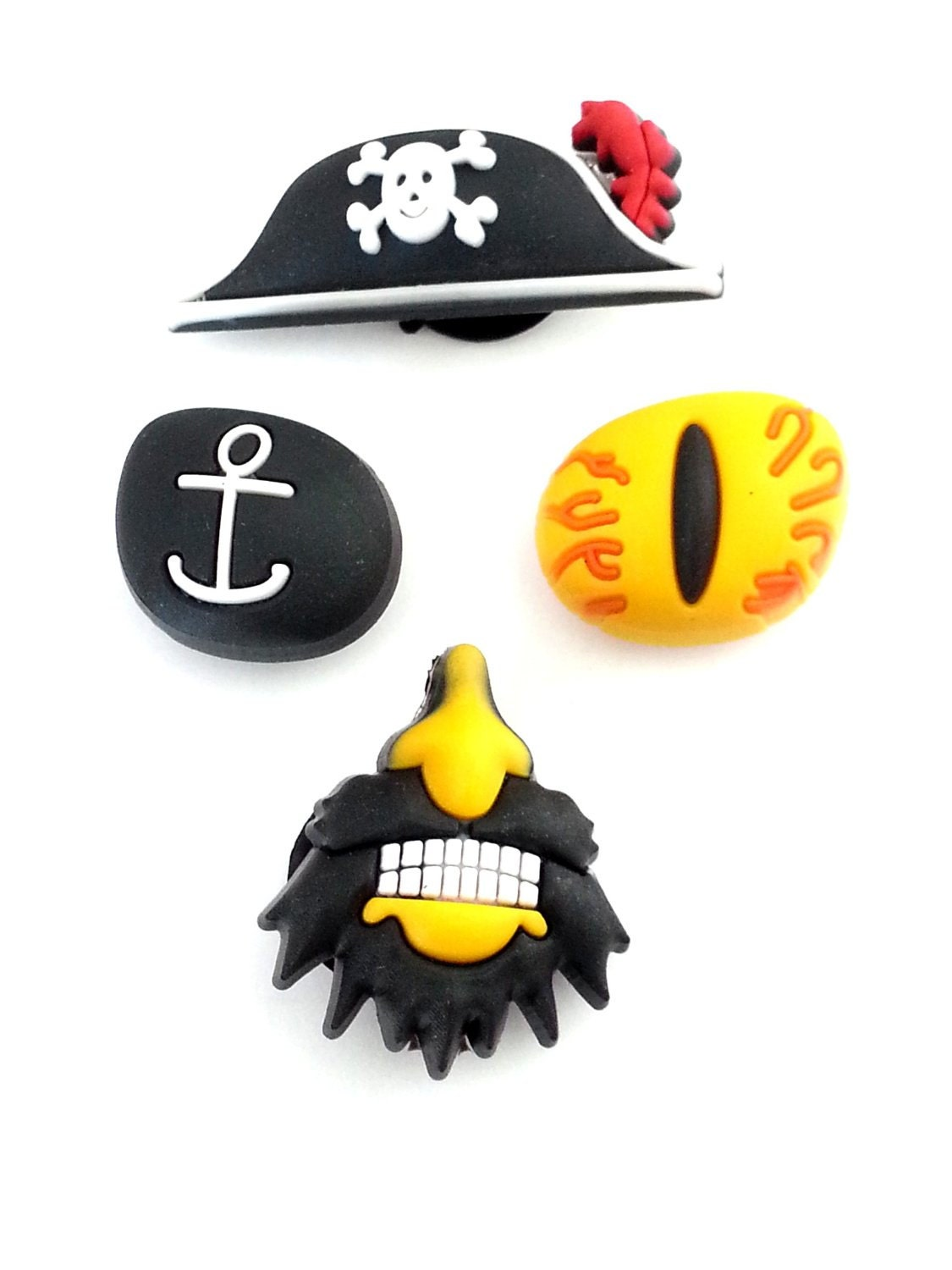 CROCS Jibbitz 3D Pirate 4 pcs Set of Shoe by VenusStationary