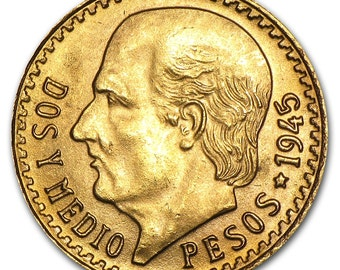 Gold Coin, Mexico 2 1/2 Peso***ON SALE**