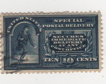 10 cent 1895 Special Delivery (Scott's E 5) Single Stamp, Used