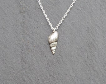 Silver Shell Necklace/Pendant, fine silver, cornish shell