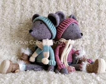 Mouse Doll Amigurumi Stuffed Animal Toy Crochet