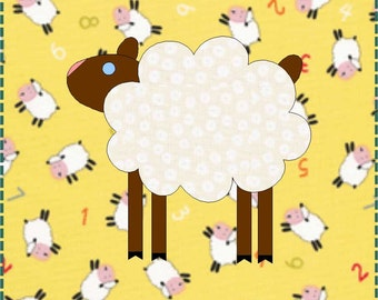 Sheep Quilt Block - Lamb Quilt Block - PDF Download - Instant Download - Block Pattern - Quilt Pattern - Quilt Block - Block Pattern