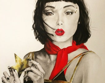 Fashion illustration by Lauren Leone - Giclee print reproduction