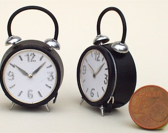 Original hand-bag, in the shape of alarm clock, leather, 1/12 scale