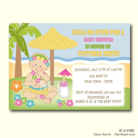 aloha baby shower invitation hawaiian luau baby shower invite baby