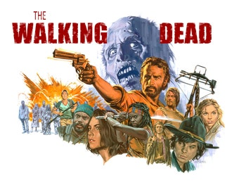 The Walking Dead, The Walking Dead Poster, Zombie Poster, Rick Grimes, Daryl Dixon, Zombie Poster, Michonne Poster
