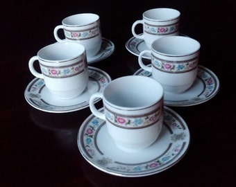 China,pottery,ceramics,porcelain,saucer cup set of 4