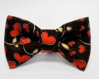 Heart Bow Tie, Valentines Bow Tie, Boys Bow Tie, Bow Tie for Wedding, Dog Bow Tie, Mens Bow Tie, Formal Bow Tie, Bow Tie Dog, For Him