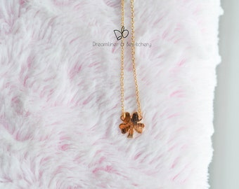 Little Clover Pendent Gold Necklace/lucky clover/cute/gift under 20/free shipping
