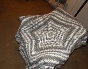Star Shaped afghan throw