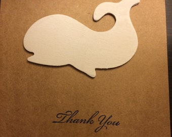 Whale Thank You Cards - Set of 6 with Envelopes