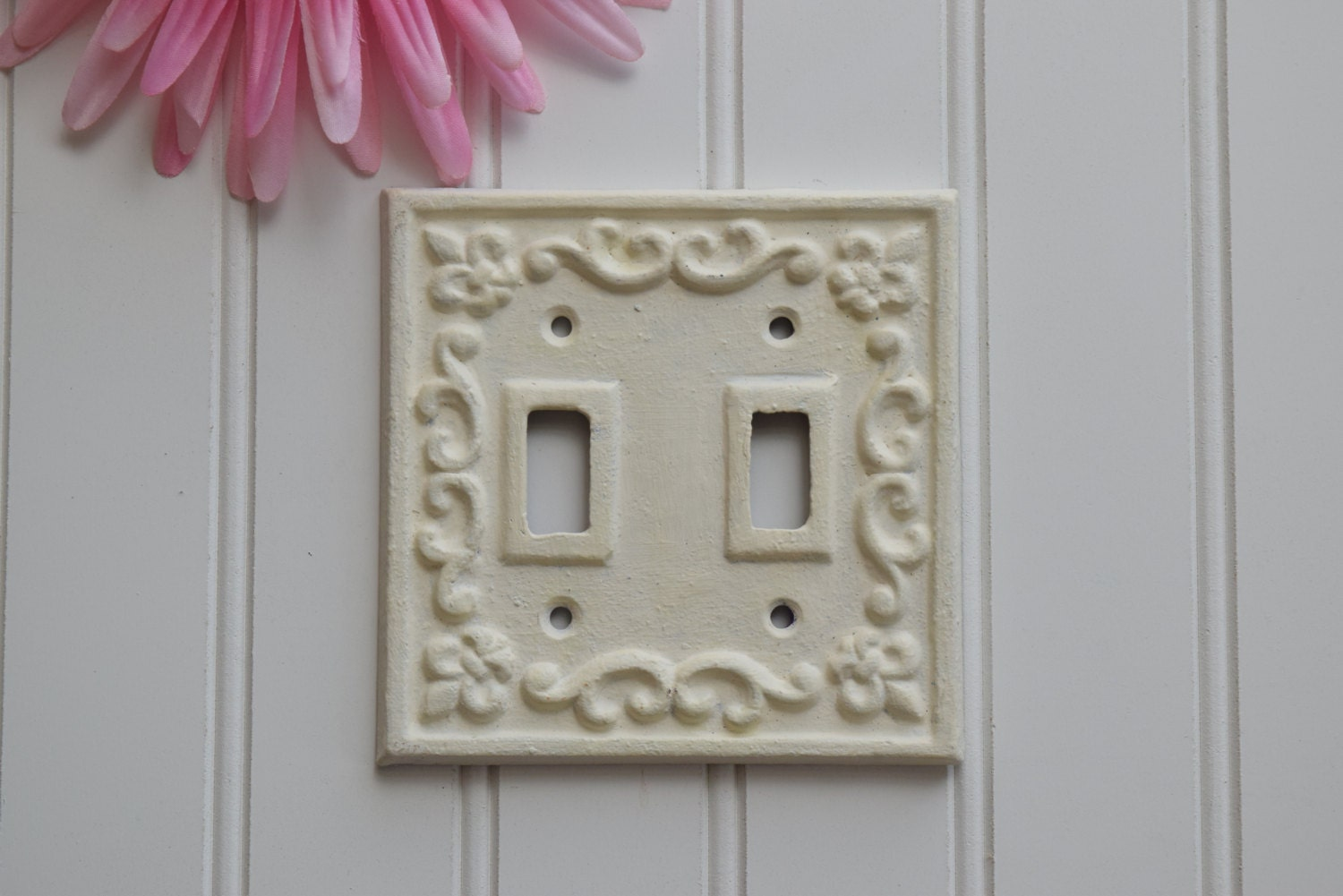 Double Light Switch Plate Cover Cast Iron Plate By