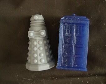 Mini TARDIS and Dalek Soap Set Dr Who