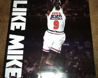 Vintage 1992 Michael Jordan Dream team poster new like mike gatorade deadstock og bulls team usa olympics
