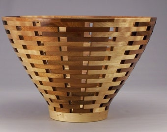 Koa and Maple Open Segmented Bowl